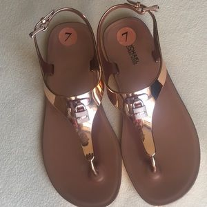 NWT Michael Kors rose gold sandals sz 7
